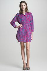 See By Chloé Floral Print Shirt Dress - Lyst