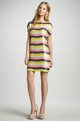 Trina Turk Breene Striped Sequined Dress - Lyst