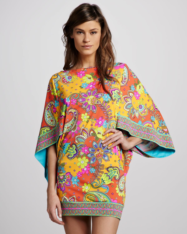 1a4a8b47297f7 Lyst trina turk summer of love paisley tunic jpg 1200x1500 Trina turk tunic