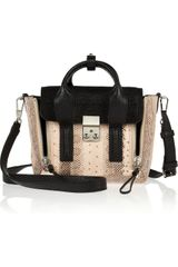 3.1 Phillip Lim Mini Pashli Leather and Elaphe Shoulder Bag - Lyst
