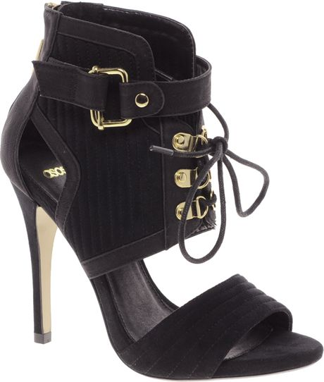 Asos Top Secret Sandal Shoe Boots in Black
