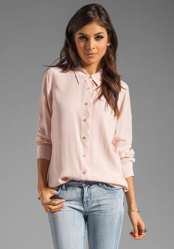 Equipment Brett Clean with Scallop Blouse - Lyst