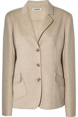 Jil Sander Wool and Angorablend Jacket - Lyst