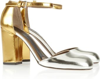Marni Mirrored Leather Pumps - Lyst
