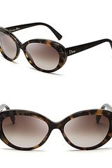 Dior Taffetas Textured Cateye Sunglasses - Lyst