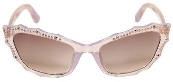 Agent Provocateur Cat Eye Studded Acetate Sunglasses - Lyst