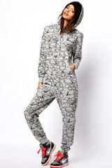 ASOS Collection Asos Onesie in Kapow Print - Lyst