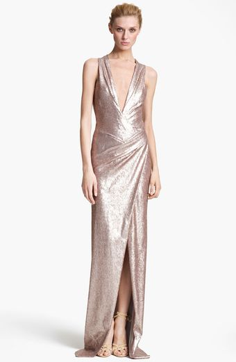 Donna Karan New York  Sequin Gown - Lyst