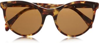 Illesteva Claire Cat Eye Tortoise Shell Acetate Sunglasses - Lyst