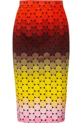 Jonathan Saunders Axel Polkadot Stretchcotton Twill Pencil Skirt