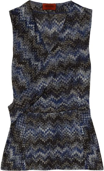 Missoni Crochet-knit Wrap-effect Top - Lyst