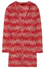 Missoni Metallic Crochetknit Cardigan - Lyst