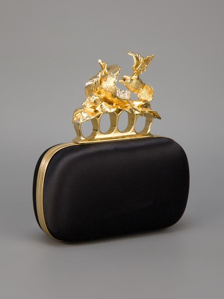 Alexander Mcqueen Box Clutch Bag in Black - Lyst