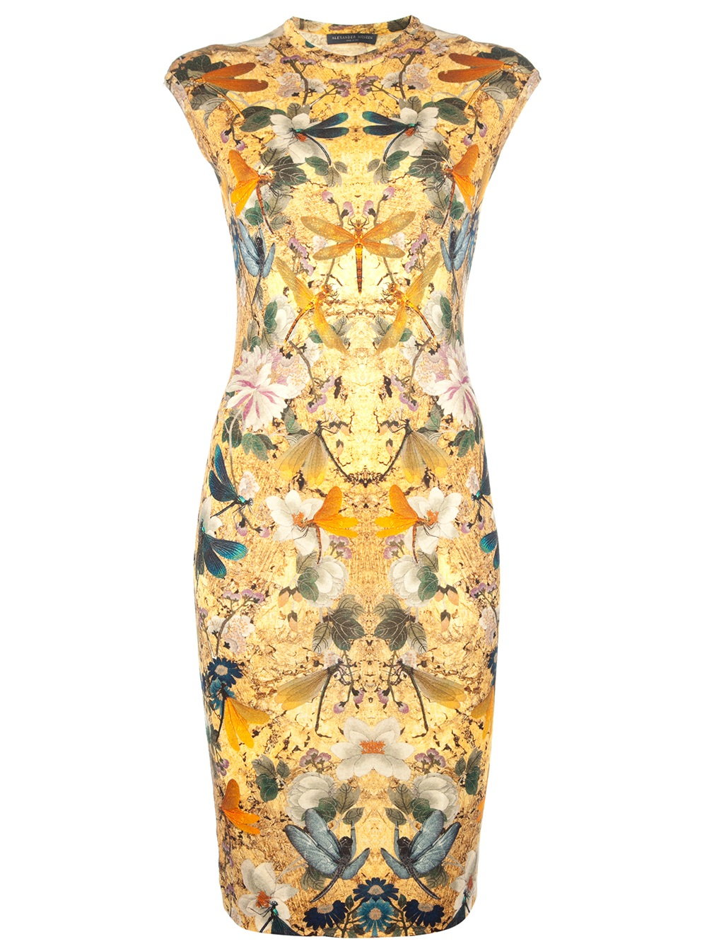 Alexander Mcqueen Multicoloured Print Dress In Floral