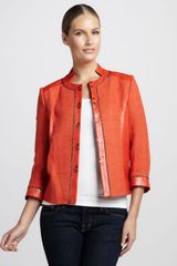 Bagatelle Tweedtextured Leather Jacket - Lyst