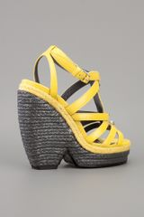 Balenciaga Wedge Sandal in Yellow - Lyst