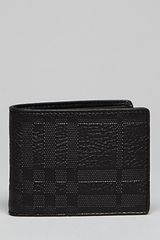 Burberry London Embossed Check Pebbled Leather Wallet - Lyst