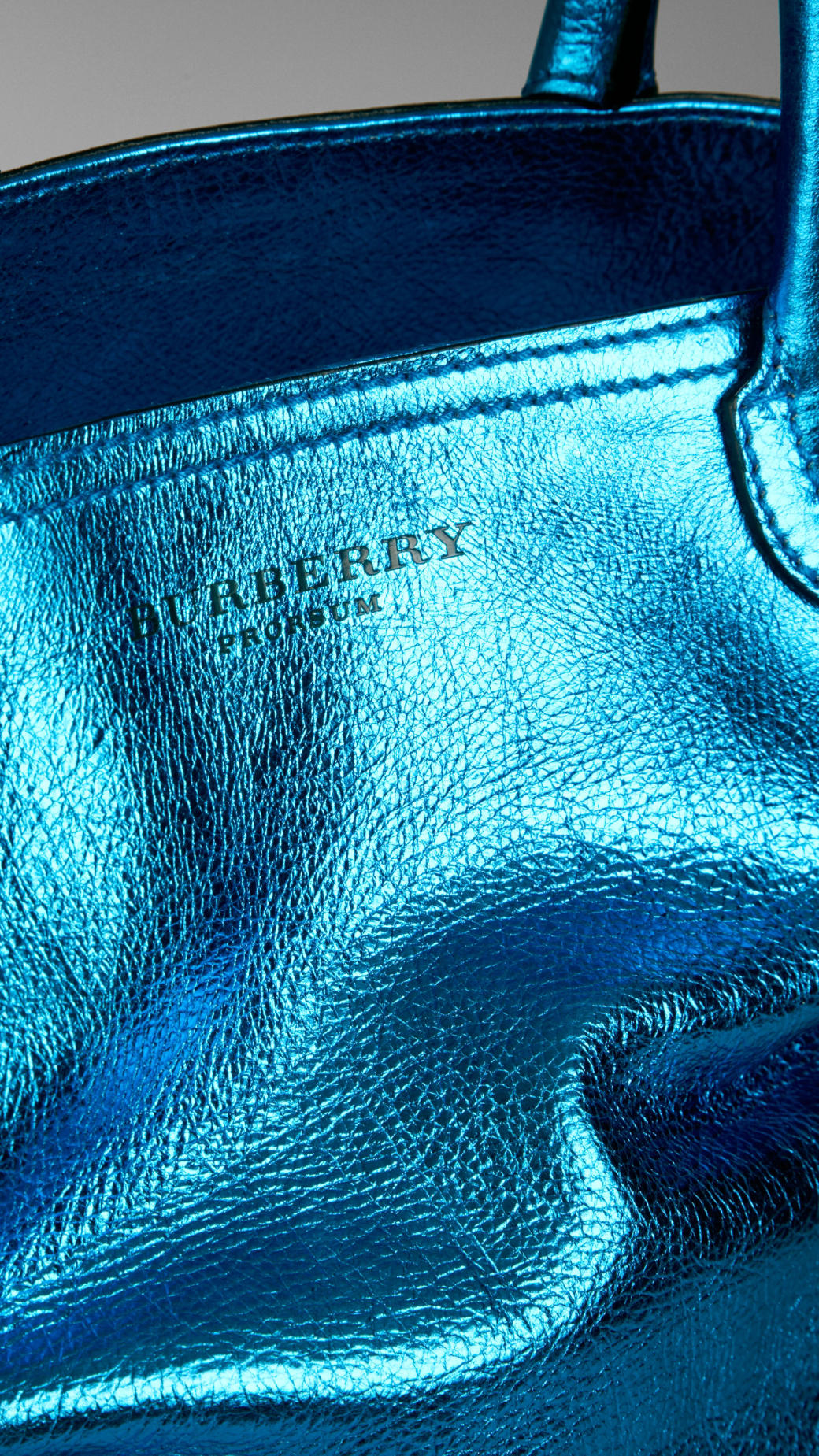 Lyst Burberry Metallic Leather Tote Bag In Blue For Men