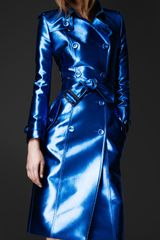 Burberry Prorsum Metallic Trench Coat - Lyst