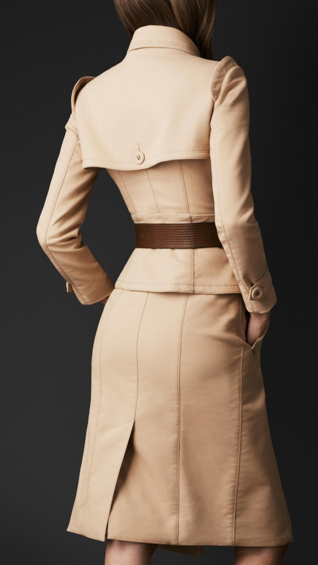 Burberry prorsum corset trench coat in natural lyst for Burberry damen mantel
