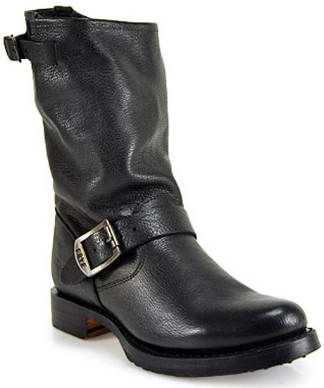 frye leather boot in black lyst