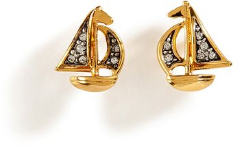 Juicy Couture Goldtoned Sailboat Stud Earrings - Lyst