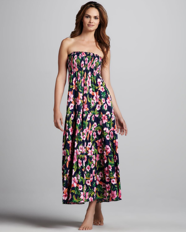 Lyst - Juicy Couture Floralprint Maxi Dress