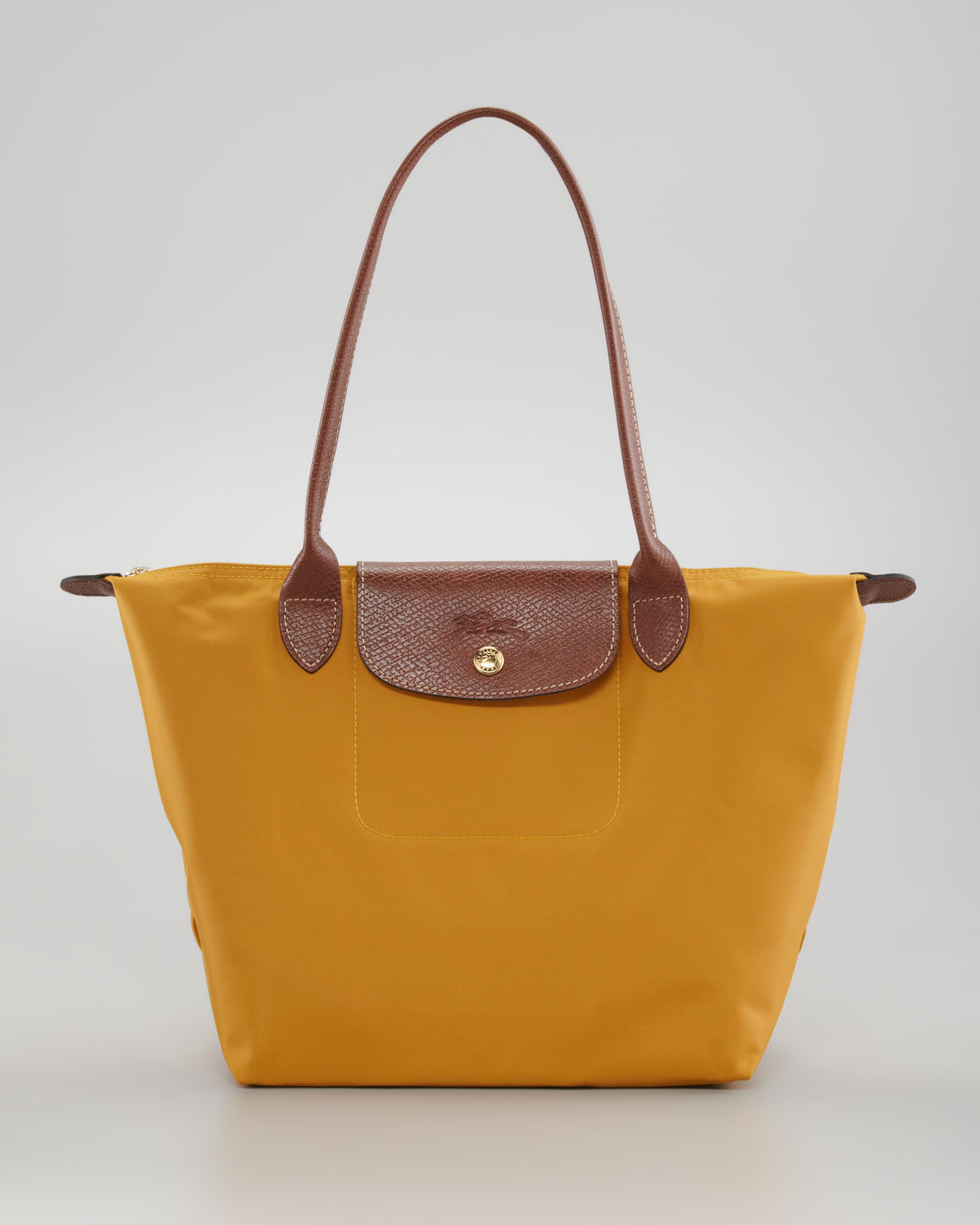 longchamp le pliage small shoulder tote bag in yellow. Black Bedroom Furniture Sets. Home Design Ideas