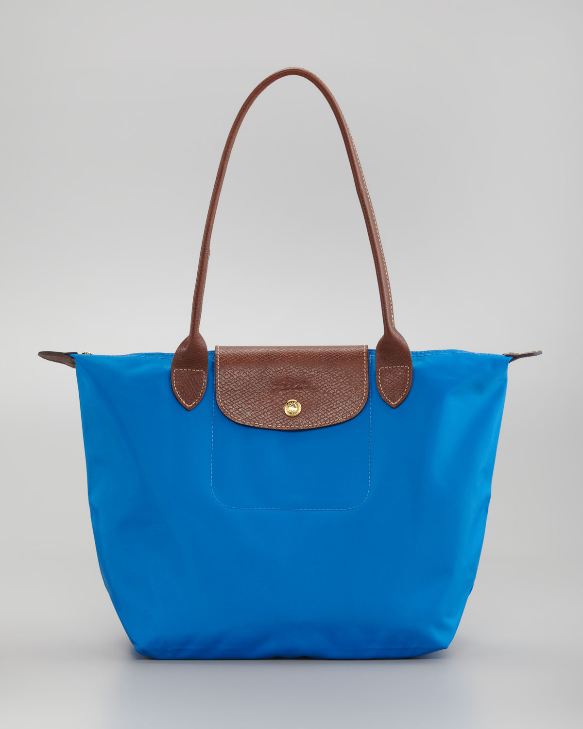 longch le pliage small shoulder tote bag in brown