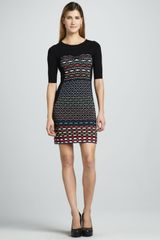 M Missoni Diamond Striped Dress - Lyst