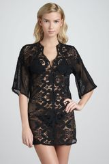 Miguelina Sheer Lace Cover-Up - Lyst