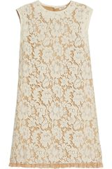 Miu Miu Floral Lace Aline Dress - Lyst