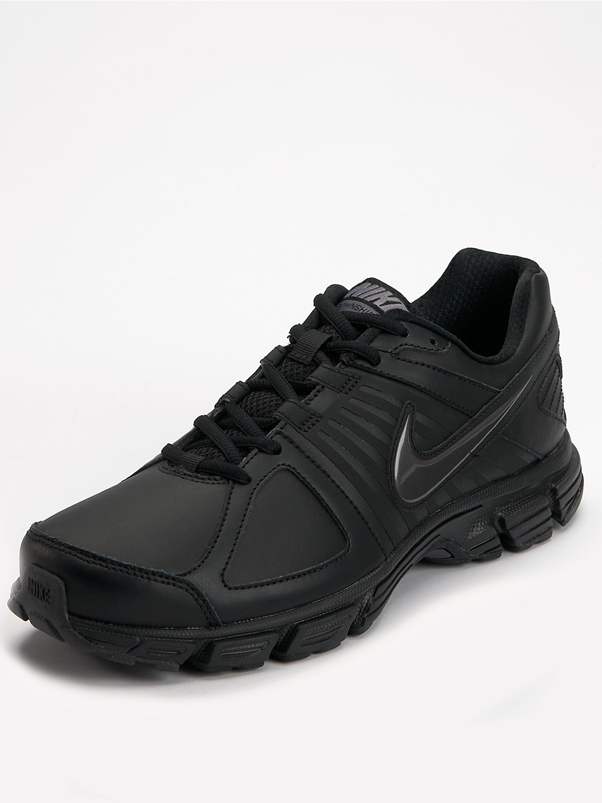 Nike Nike Downshifter 5 Mens Leather Trainers in Black for ...