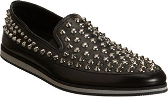 Prada Studded Slipon - Lyst