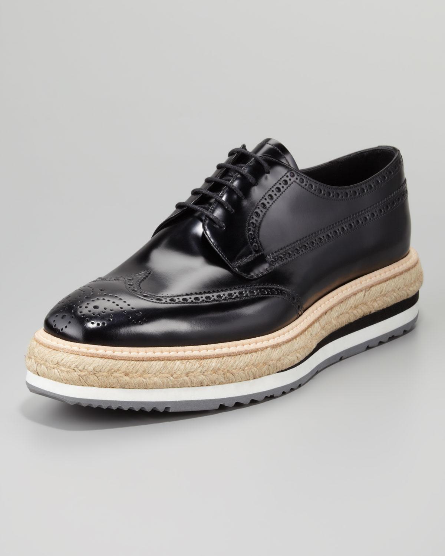 Prada Blue Leather Shoes