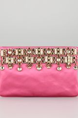 Prada Jeweled Satin Clutch Bag - Lyst