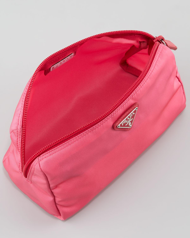 ... cheapest prada vela cosmetic bag in pink lyst c00ec bc684 ... 833378ca023d7