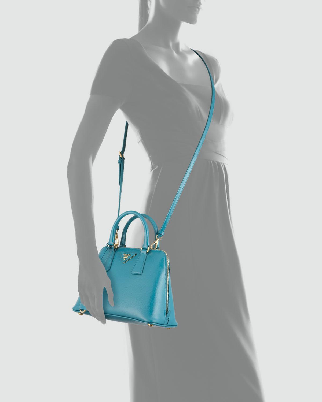 c488aa65da14 Lyst - Prada Saffiano Micro Promenade Bag in Blue