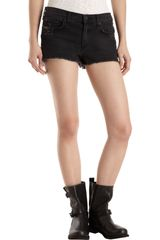 Rag & Bone Mila Cut Off Short Destroyed Rock - Lyst