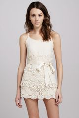 RED Valentino Spaghettistrap Short Lace Jumpsuit - Lyst