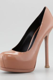 Yves Saint Laurent Tribute Patent Leather Pump - Lyst