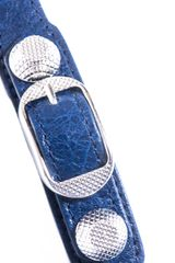 Balenciaga Studded Leather Bracelet in Blue (navy) - Lyst
