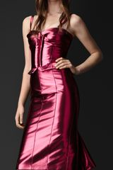 Burberry Prorsum Metallic Bustier Dress - Lyst