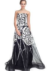 Carolina Herrera Silk Strapless Gown