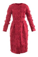 Giambattista Valli Couture Floral Embroideredsilk Coat - Lyst