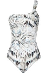 Heidi Klein One Shoulder Swimsuit - Lyst