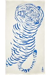 Horiyoshi The Third Big Tiger Printed Silk and Cashmere Blend Scarf - Lyst