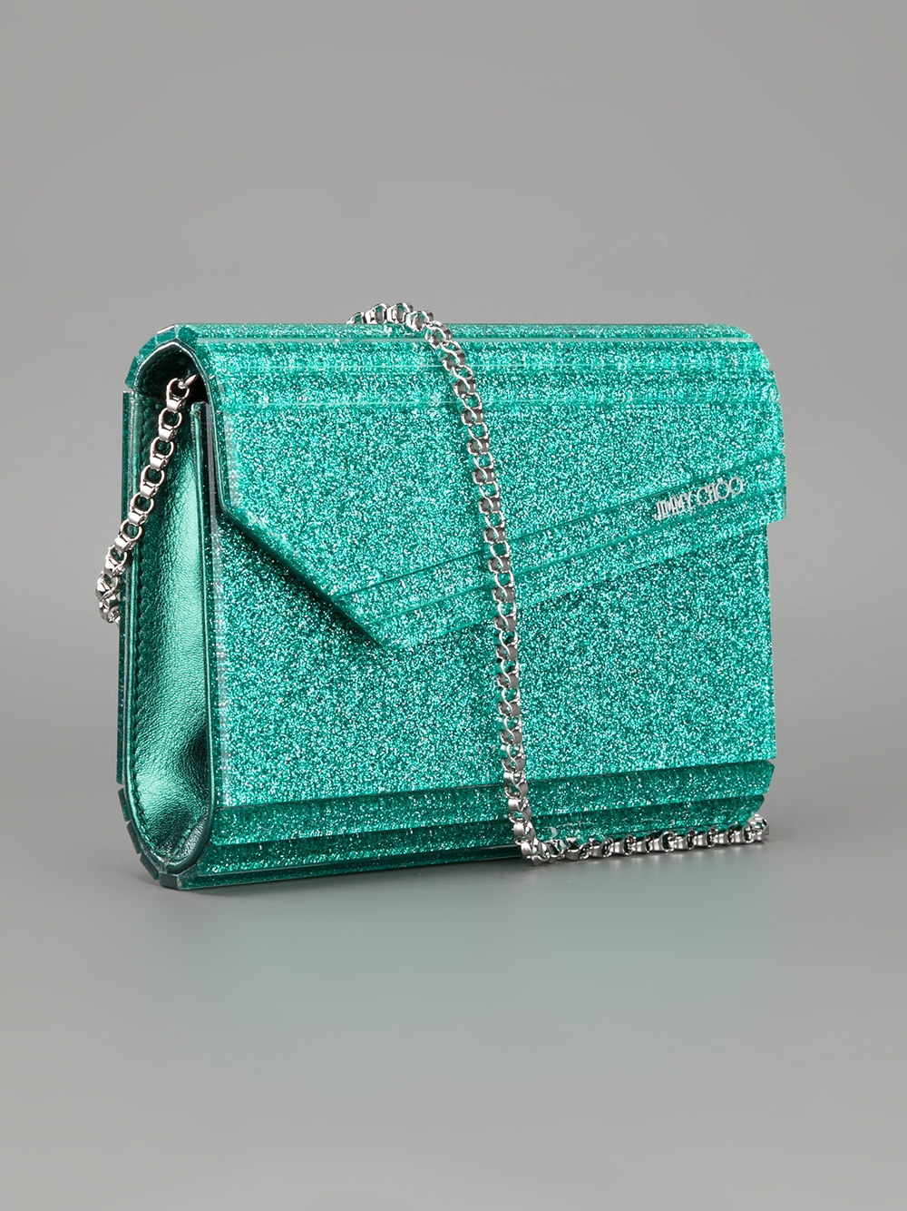 jimmy choo candy clutch bag in green emerald lyst. Black Bedroom Furniture Sets. Home Design Ideas