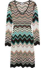 M Missoni Zigzag Crochetknit Dress - Lyst