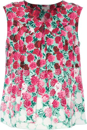 Marc Jacobs Sleeveless Floral Print Shirt - Lyst